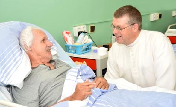Řehoř Žáček II v nemocnici